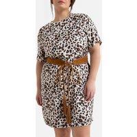 shop for Leopard Print Shift Dress at Shopo