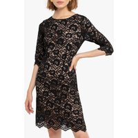 shop for Lace Knee-Length Shift Dress with 3/4 Length Sleeves at Shopo