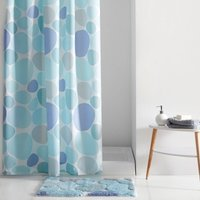 Pebble Print Shower Curtain with Hooks