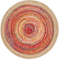 Jaco Hand Woven Multicoloured Round Rug