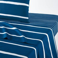 Glenans Flat Sheet in Nautical Striped Cotton