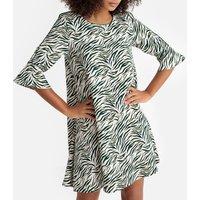 shop for Printed Flared Midi Dress at Shopo