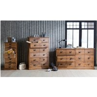 Lindley Solid Pine 6-Drawer Tall Chest