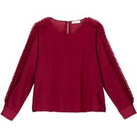 shop for Round Neck Blouse with Long Ruffled Sleeves at Shopo