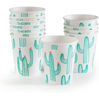 Faviene Cactus-Themed Paper Cups (Set of 12)