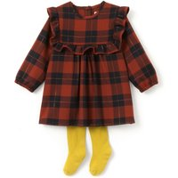 2-Piece Checked Dress and Tights, 1 Mth-3 Yrs