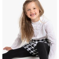 Cotton Gingham Shorts, 3-14 Years