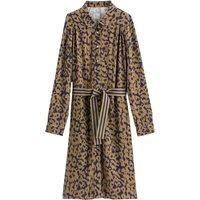 shop for Leopard Print Shirt Dress with Belt at Shopo