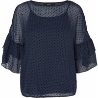 Polka Dot Tulle Blouse with Ruffles