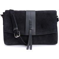 Raven Suede Clutch Bag