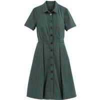 shop for Striped Midi Short-Sleeved Shirt Dress at Shopo