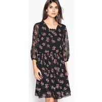 Floral Print Mesh Style Dress