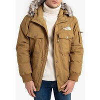 Gotham Warm Goose Down Padded Jacket with Faux Fur Hood and Pockets