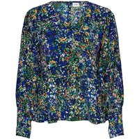 shop for Floral V-Neck Blouse with Long Sleeves at Shopo