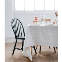 Striped Washed Linen Tablecloth