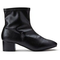 Wide Fit Stretch Ankle Boots with Block Heel