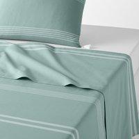 Riad Striped Cotton Flat Sheet