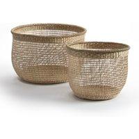 Set of 2 Cidarie Bamboo Baskets
