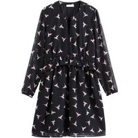 shop for Ruffled Bird Print Full Dress at Shopo