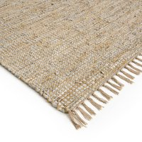 Aidas Jute and Leather Rug
