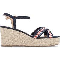 Denim Wedge Sandals