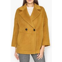 Wool Blend Gessica Short Double-Breasted Coat
