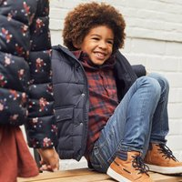 Hooded Padded Jacket with Fleece Lining, 3-12 Years