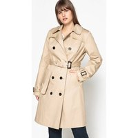 Showerproof Double-Breasted Trench Coat with Pockets