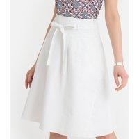 Linen Blend Tie-Waist Skirt