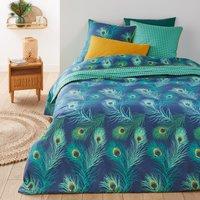 Shakhra Peacock Print Cotton Percale Duvet Cover