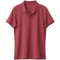 T-shirt navy;Nero;Kaki scuro;rosso bordeaux uomo Polo THOMAS in cotone Oeko Tex