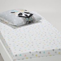 Meiko Pastel Geometric Cotton Fitted Sheet