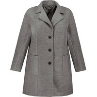 Single-Breasted Pea Coat with Pockets