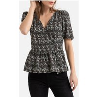 shop for Wrapover Peplum Blouse in Paisley Print at Shopo