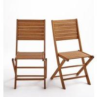 Set of 2 Euka Eucalyptus Folding Chairs