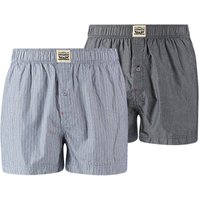 Pack of 2 Pairs of Striped and Chambray Briefs