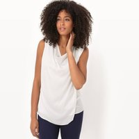 2-in-1 Blouse With Cowl Neck