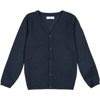 Cotton Mix Buttoned Cardigan with V-Neck, 3-12 Years