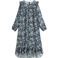 shop for Ruffle Tiered Midi Dress in Floral Print at Shopo