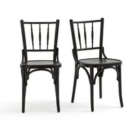 BISTRO Set of 2 Beech Chairs