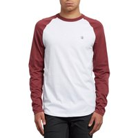Plain Long-Sleeved Crew Neck T-Shirt