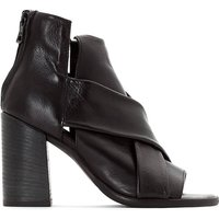 Santorini Square Heel Leather Sandals