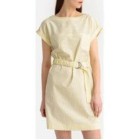 shop for Striped Belted Cotton Shift Dress at Shopo