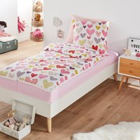 Love Cotton Bedding Set with Duvet in Love Heart Print