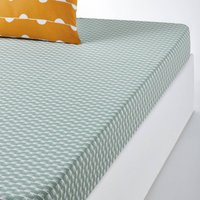 IRUN Graphic Print Cotton Fitted Sheet