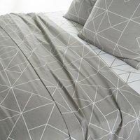 Vidmey Geometric Cotton Flat Sheet