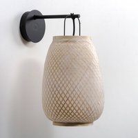 Titouan Bamboo and Rice Paper Wall Light by E. Gallina.