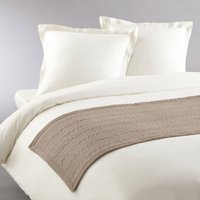 Aima Quilted Bed Throw with Braid Trim