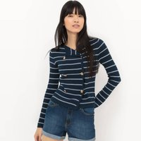Nautical Jacket-Style Cardigan