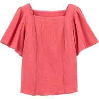 shop for Ruffled Sleeve Cotton Blouse at Shopo